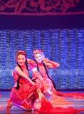 Vermelho da porcelana da dança imagem de stock