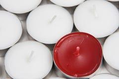 Vermelho da vela Imagens de Stock Royalty Free