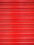 Vermelho de aço da porta Imagens de Stock
