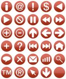 Vermelho de Buttonset Imagem de Stock
