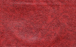Vermelho de couro, liso Foto de Stock Royalty Free