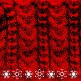 Vermelho de lã feito malha da textura Imagem de Stock Royalty Free