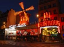 Vermelho de Moulin Foto de Stock Royalty Free