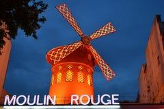 Vermelho de Moulin Fotografia de Stock Royalty Free