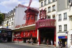 Vermelho de Moulin Fotos de Stock