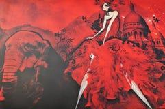 Vermelho de Moulin (detalhe) Foto de Stock