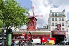 Vermelho de Moulin - Paris foto de stock