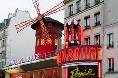 Vermelho de Moulin - Paris fotos de stock royalty free