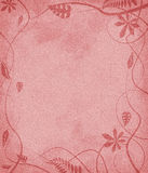 Vermelho de papel mottled floral Imagem de Stock Royalty Free