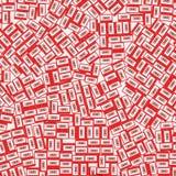 Vermelho de superfície da gaveta Imagens de Stock Royalty Free