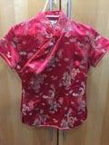 Vermelho denominado japonês da camisa Fotos de Stock