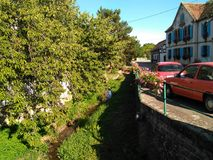 vermelho do carro de 12 67 2002 05 Alsácia França Fotografia de Stock