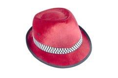 Vermelho do chapéu de veludo Fotografia de Stock