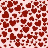 Vermelho do coração Teste padrão sem emenda elegante ilustração do vetor