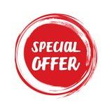 Vermelho do estilo do grunge da oferta especial colorido no fundo branco Imagem de Stock