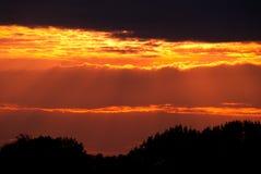 Vermelho do fogo do por do sol Imagem de Stock Royalty Free