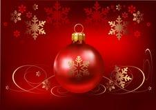 Vermelho do fundo do Natal Imagens de Stock Royalty Free