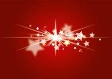 Vermelho do fundo do Natal Foto de Stock