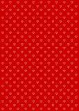 Vermelho do fundo do teste padrão do coração Imagem de Stock Royalty Free