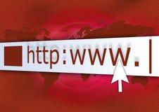 Vermelho do HTTP Foto de Stock Royalty Free