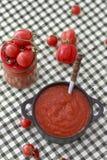 Vermelho do molho de tomate, preto e branco Imagem de Stock Royalty Free
