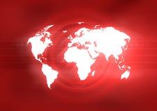 Vermelho do mundo ilustração stock