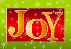 Vermelho do ouro da bandeira da alegria do Natal Fotografia de Stock Royalty Free