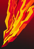 Vermelho do relâmpago do poster Fotografia de Stock