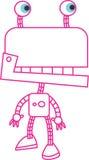 Vermelho do robô Fotos de Stock