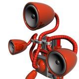 Vermelho do robô da música ilustração royalty free
