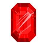 Vermelho do rubi, isolado no fundo branco Imagens de Stock Royalty Free