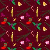 Vermelho do teste padrão do Natal Ilustração Stock