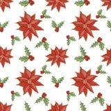 Vermelho do teste padrão do Natal Foto de Stock Royalty Free