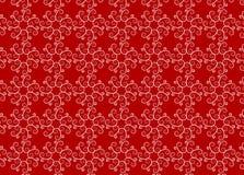 Vermelho do teste padrão do ornamento Foto de Stock Royalty Free
