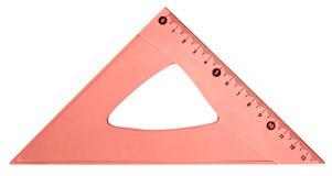Vermelho do triângulo Fotografia de Stock Royalty Free