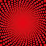 Vermelho Dots Fiery Glow Pattern de Spirale ilustração royalty free