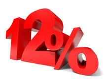 Vermelho doze por cento fora Disconto 12% Foto de Stock