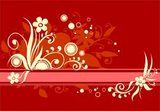 Vermelho e amarelo ilustração royalty free