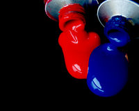 Vermelho e azul imagem de stock royalty free
