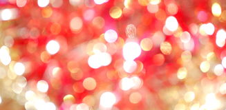 Vermelho e borrão da luz do ouro Foto de Stock
