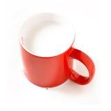 Vermelho e branco Fotos de Stock Royalty Free
