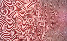Vermelho e branco abstratos radiais do teste padrão Imagens de Stock Royalty Free