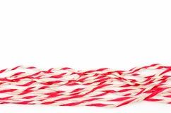 Vermelho e branco da corda Imagens de Stock Royalty Free
