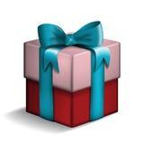 Vermelho e caixa de presente cor-de-rosa Ilustração Stock