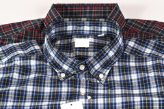 Vermelho e camisa verific azul do teste padrão Foto de Stock
