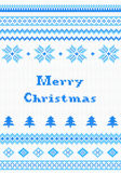 Vermelho e cartão da malha do White Christmas Imagens de Stock