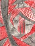 Vermelho e cinza ilustração royalty free