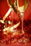 Vermelho e faísca do ouro Fotografia de Stock