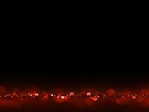 Vermelho e fundo abstrato elegante do Natal festivo do ouro com luzes do bokeh Fotografia de Stock