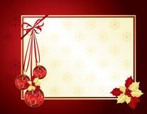 Vermelho e fundo do Natal do ouro Fotos de Stock Royalty Free